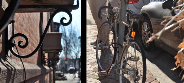 adorno y bici